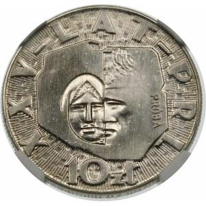 Próba 10 złotych 1969 25 lat PRL - nikiel