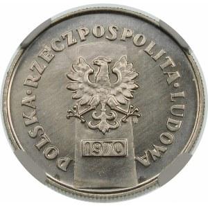 Próba 10 złotych 1970 25 lecie powrotu do macierzy - nikiel
