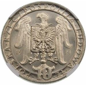 Próba 10 złotych 1971 Powstanie Śląskie - nikiel