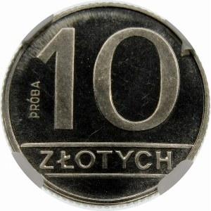 Próba 10 złotych 1989 - nikiel