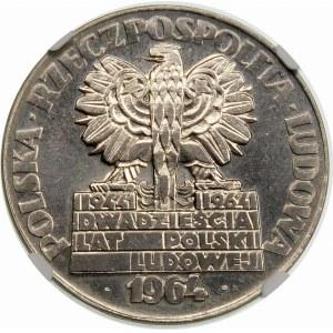 Próba 20 złotych 1964 Nowa Huta Płock Turoszów - nikiel