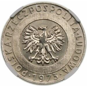Próba 20 złotych 1973 Wieżowiec i Kłosy - nikiel
