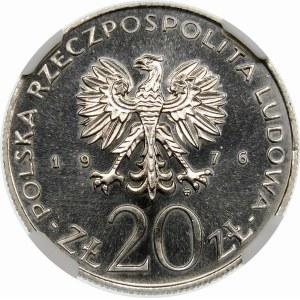 Próba 20 złotych 1976 Ustawy Budżetowe PRL - nikiel