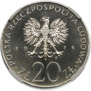 Próba 20 złotych 1976 Ustawy Budżetowe - nikiel
