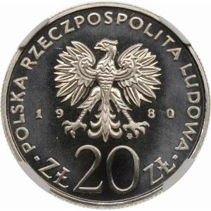 Próba 20 złotych 1980 Olimpiada, biegacz - nikiel
