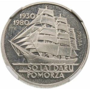Próba 20 złotych 1980 Dar Pomorza - nikiel