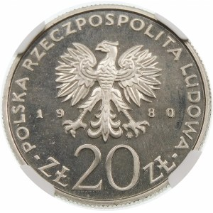 Próba 20 złotych 1980 Walki Barykadowe - nikiel