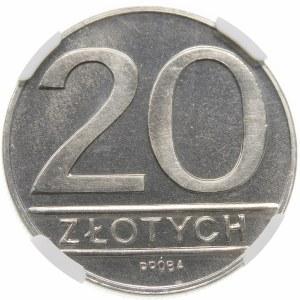 Próba 20 złotych 1984 - nikiel