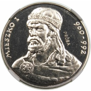 Próba 50 złotych 1979 Mieszko I - nikiel