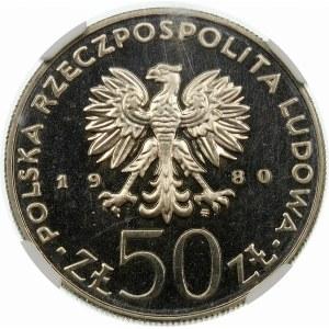 Próba 50 złotych 1980 Chrobry - nikiel