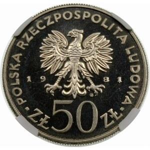 Próba 50 złotych 1981 Śmiały - nikiel