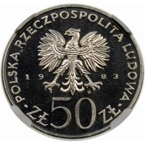 Próba 50 złotych 1983 Sobieski - nikiel
