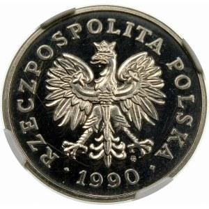 Próba 50 złotych 1990 - nikiel