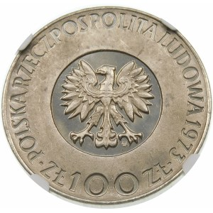 Próba 100 złotych 1973 Kopernik - nikiel