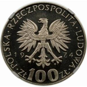 Próba 100 złotych 1974 Skłodowska Curie - nikiel