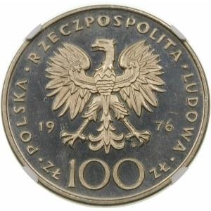 Próba 100 złotych 1976 Pułaski - nikiel
