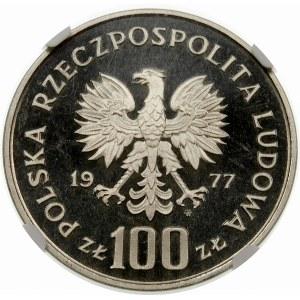 Próba 100 złotych 1977 Ryba Brzana - nikiel