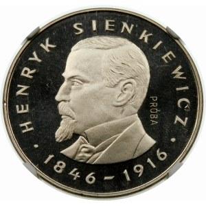 Próba 100 złotych 1977 Sienkiewicz - nikiel