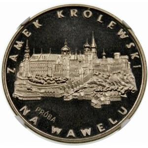 Próba 100 złotych 1977 Zamek na Wawelu - nikiel