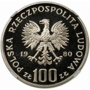 Próba 100 złotych 1980 Igrzyska - nikiel