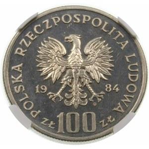Próba 100 złotych 1984 40 Lat PRL - nikiel