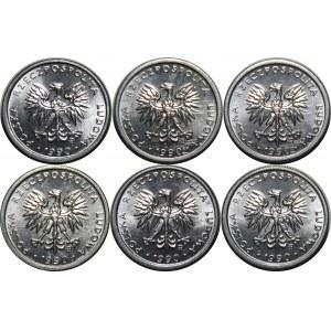 Zestaw 1 złoty 1990 - 6 sztuk