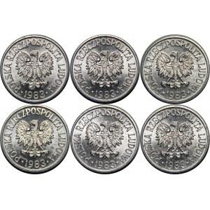 Zestaw 50 groszy 1983 - 6 sztuk