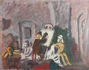 Wacław TARANCZEWSKI (1903-1987), Mała malarka - obraz wraz ze szkicem do obrazu