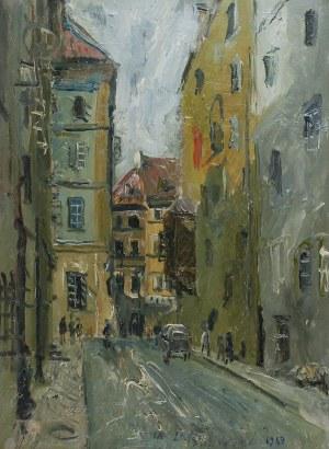 ZAKRZEWSKI WŁODZIMIERZ (1916 - 1992), Cicha uliczka, 1963
