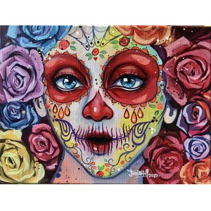Jose Angel Hill, Mexican Catrinas Red