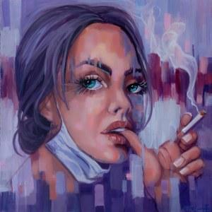 Marzena Hettich-Uryszek (ur. 1969), Girl With a Cigarette, 2020