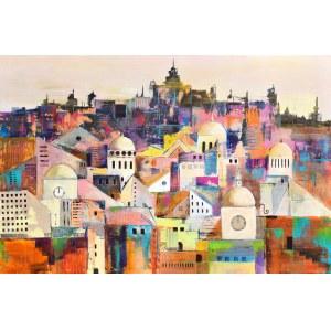 Luiza Los-Pławszewska (ur. 1963), Miasto pięciu kopuł, z cyklu: Metamorfozy Miast, 2020