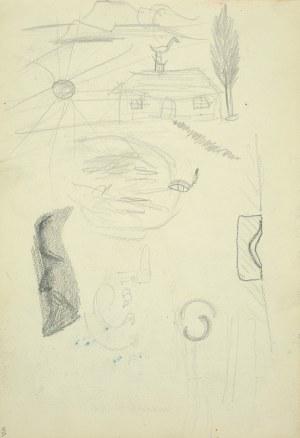 Włodzimierz Tetmajer (1861 - 1923), Drobne rysunki w manierze dziecięcej, 1900