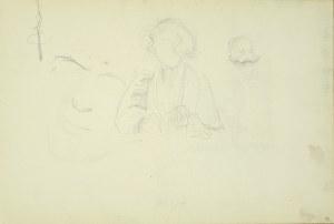 Włodzimierz Tetmajer (1861 - 1923), Popiersie młodej kobiety, szkice głowy, ok. 1900