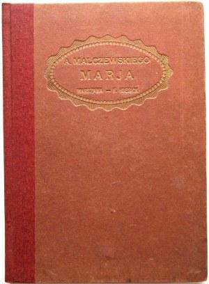 MALCZEWSKI ANTONI. Marja. Powieść ukraińska. Przez [...]. Z ilustracyami Wojciecha Gersona. Lipsk 1883 K. F