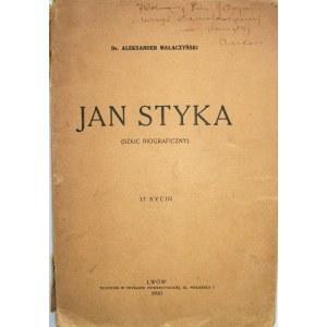 MAŁACZYŃSKI ALEKSANDER. Jan Styka (Szkic biograficzny). 17 rycin. (Jednej brak). Lwów 1930. Druk