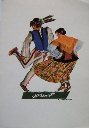 STRYJEŃSKA ZOFIA. Polish Dances - 1. Góralski. Nowy York 1942. Wyd. E. Mortkowicz