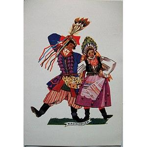 STRYJEŃSKA ZOFIA. Polish Dances - 3 . Krakowiak. Jeden karnet, z datą 1942 rok. Pozostałe dane jak wyżej