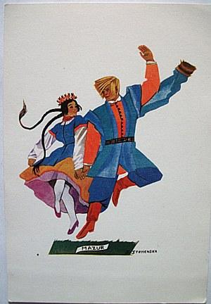 STRYJEŃSKA ZOFIA. Polish Dances -2. Mazur. Jeden karnet, tekst polski, data 1942 rok