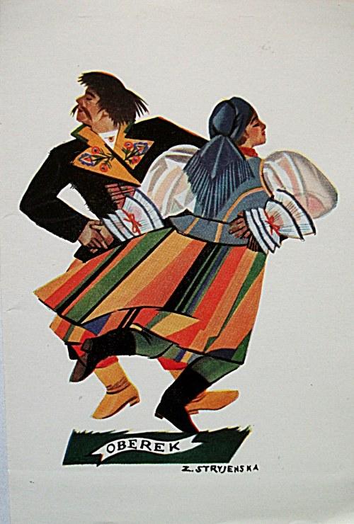 STRYJEŃSKA ZOFIA. Polish Dances -7. Oberek. Jeden karnet, tekst polski, bez daty. Pozostałe dane jak wyżej
