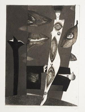 Jerzy Dmitruk (ur. 1960), Scena rodzajowa z czułym kochankiem w tle z cyklu Czuły kochanek, 2003-2009