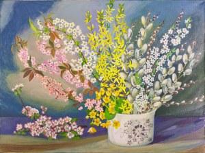 Bogumiła Ciosek (Ur.1938), Wiosenne kwiaty, 2019