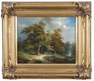 Feliks Brzozowski (1836-1892), Droga do lasu, 1871