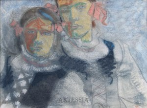 Tymon Niesiołowski (1882-1965), Dwoje dziewcząt, ok.1905