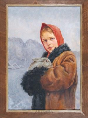 Zygmunt Nirnstein (1894-1969), Dziewczyna z królikiem na tle Giewontu, 1940
