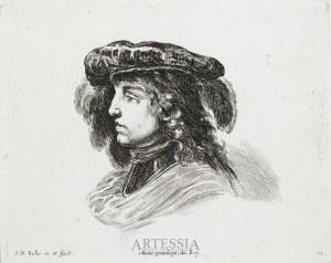 Stefano Della Bella (1610-1667), Popiersie mężczyzny w nakryciu głowy, ok. poł. XVII w.