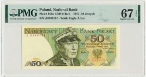 50 złotych 1975 - A - PMG 67 EPQ