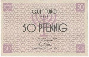 50 pfennig 1940 - red numerator
