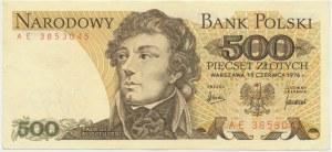 500 złotych 1976 - AE - bardzo rzadka seria