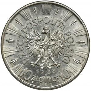Piłsudski, 10 złotych 1938